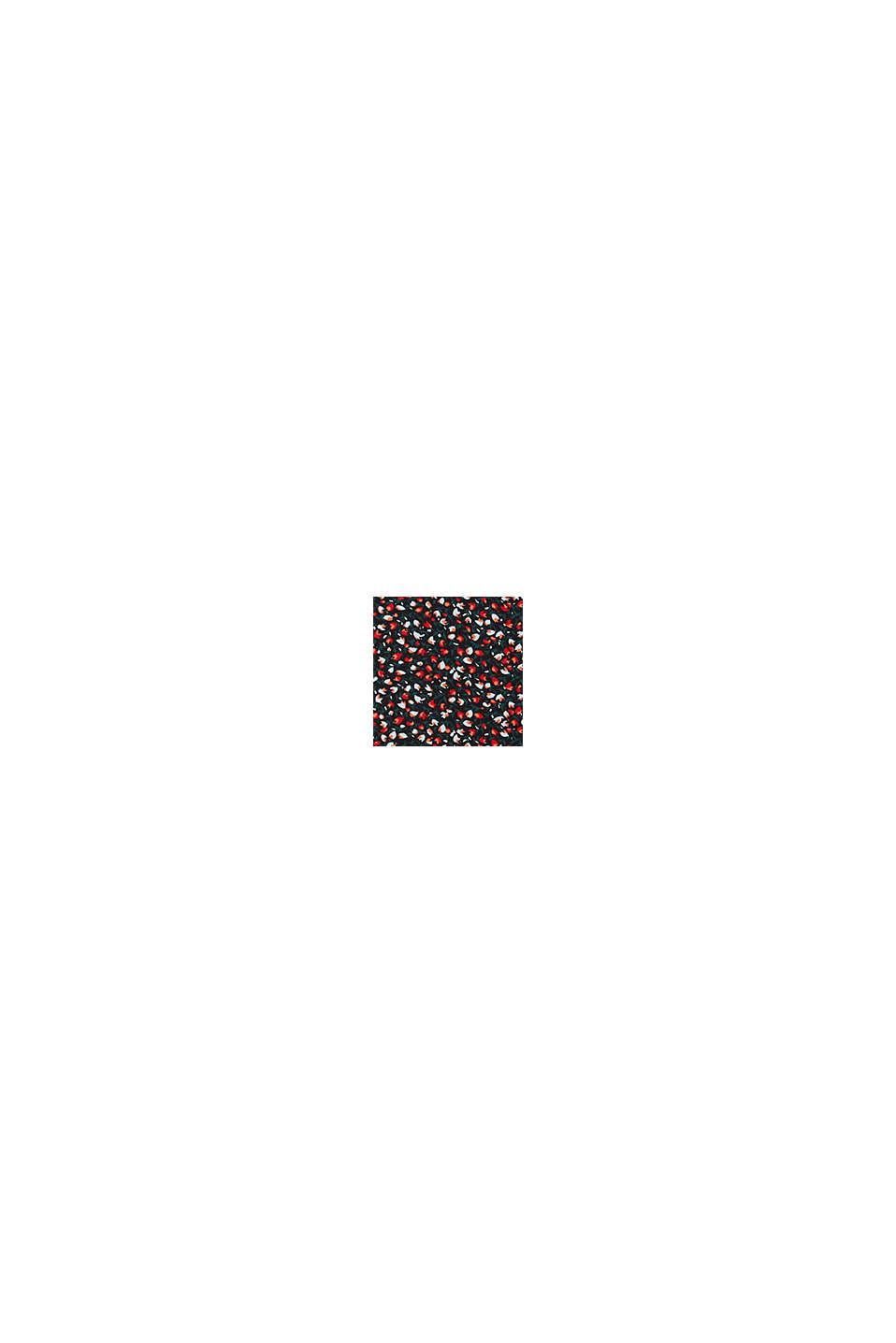REPREVE® mille-fleurs chiffon skirt, BLACK, swatch