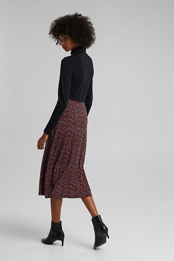 Midi skirt made of LENZING™ ECOVERO™, BORDEAUX RED, detail image number 3