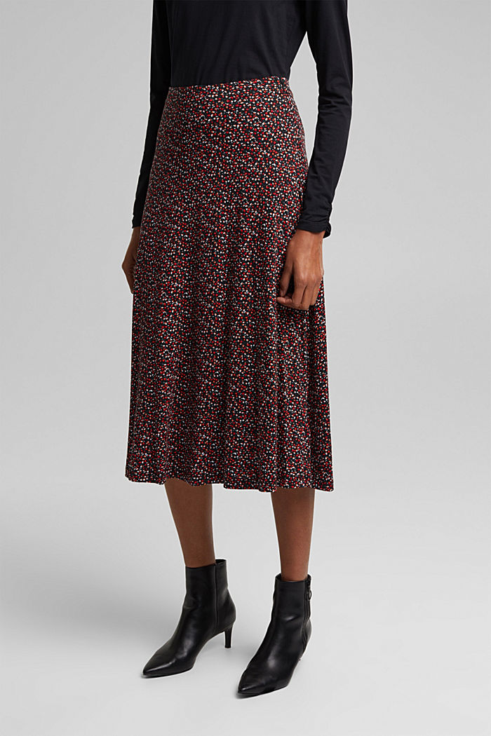 Midi skirt made of LENZING™ ECOVERO™, BORDEAUX RED, detail image number 5
