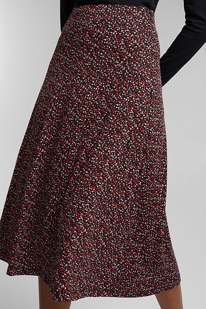 Midi skirt made of LENZING™ ECOVERO™, BORDEAUX RED, detail image number 2