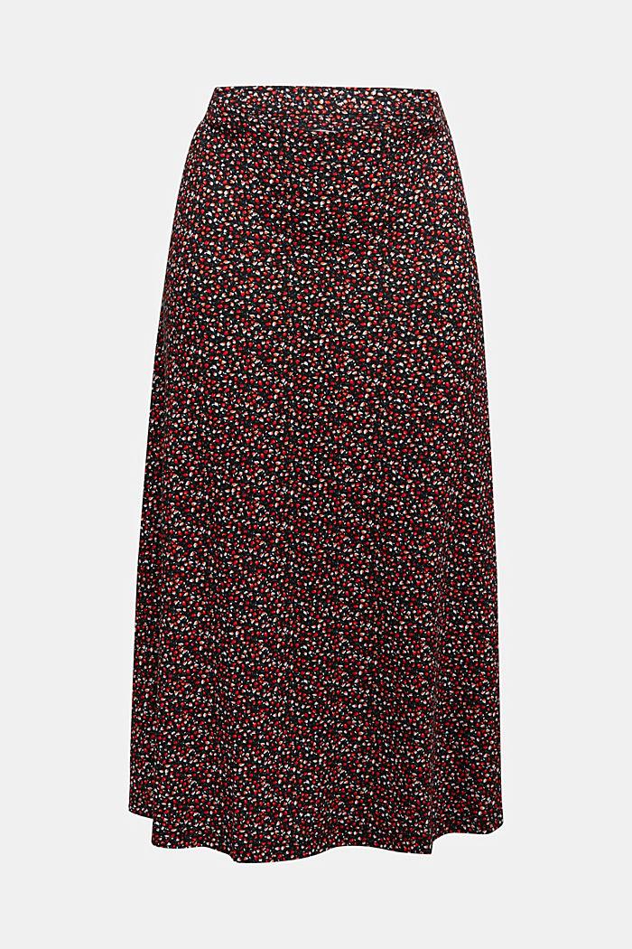 Midi skirt made of LENZING™ ECOVERO™, BORDEAUX RED, detail image number 6