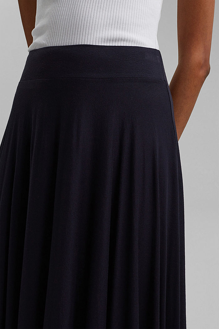 Wide jersey midi skirt, NAVY, detail image number 2