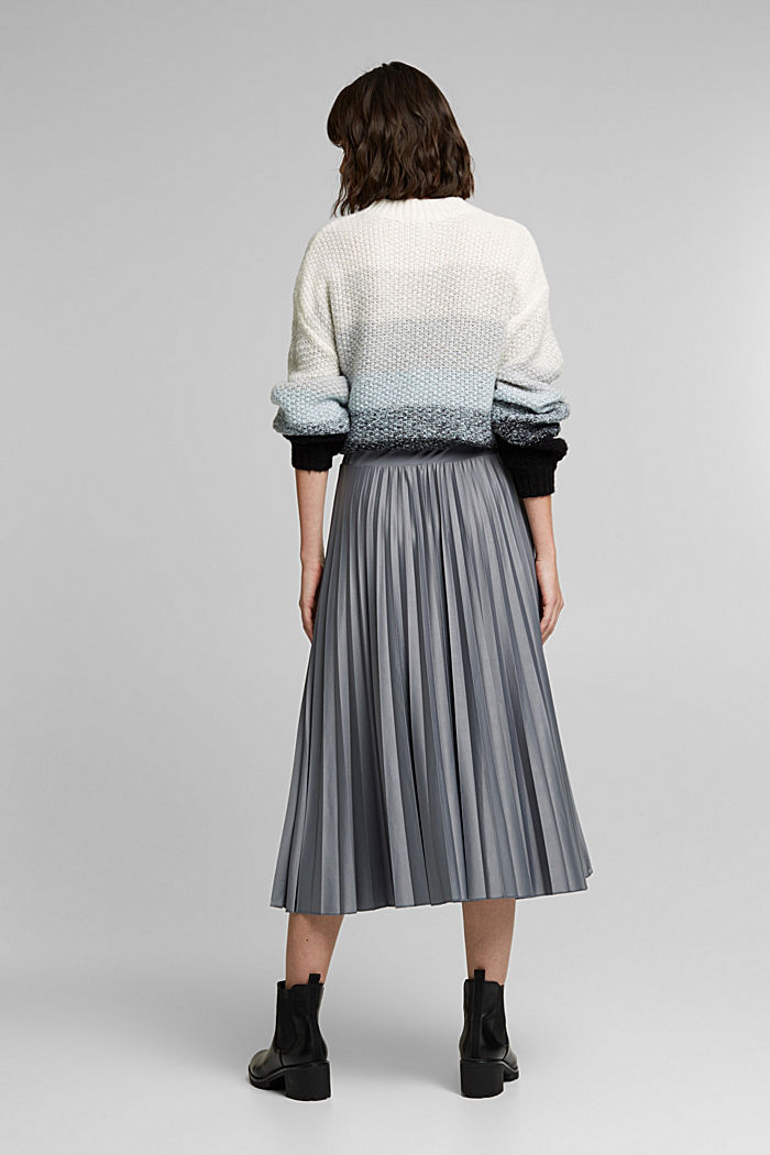 Pleated skirt with a drawstring waistband, GUNMETAL, detail image number 3
