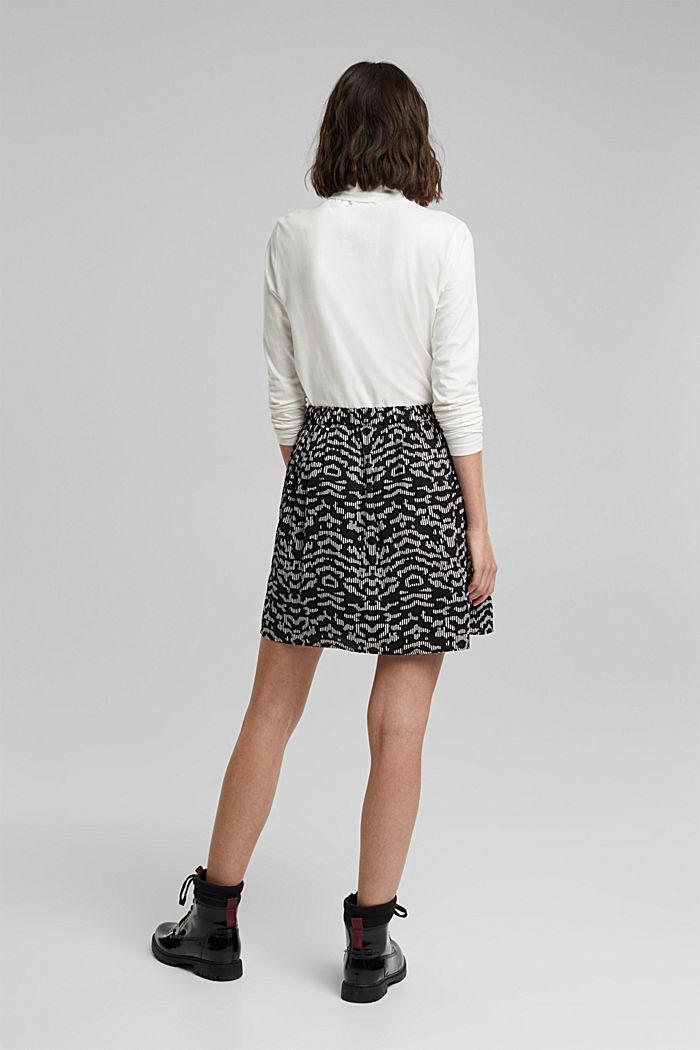 Mini skirt with geometric print, BLACK, detail image number 3