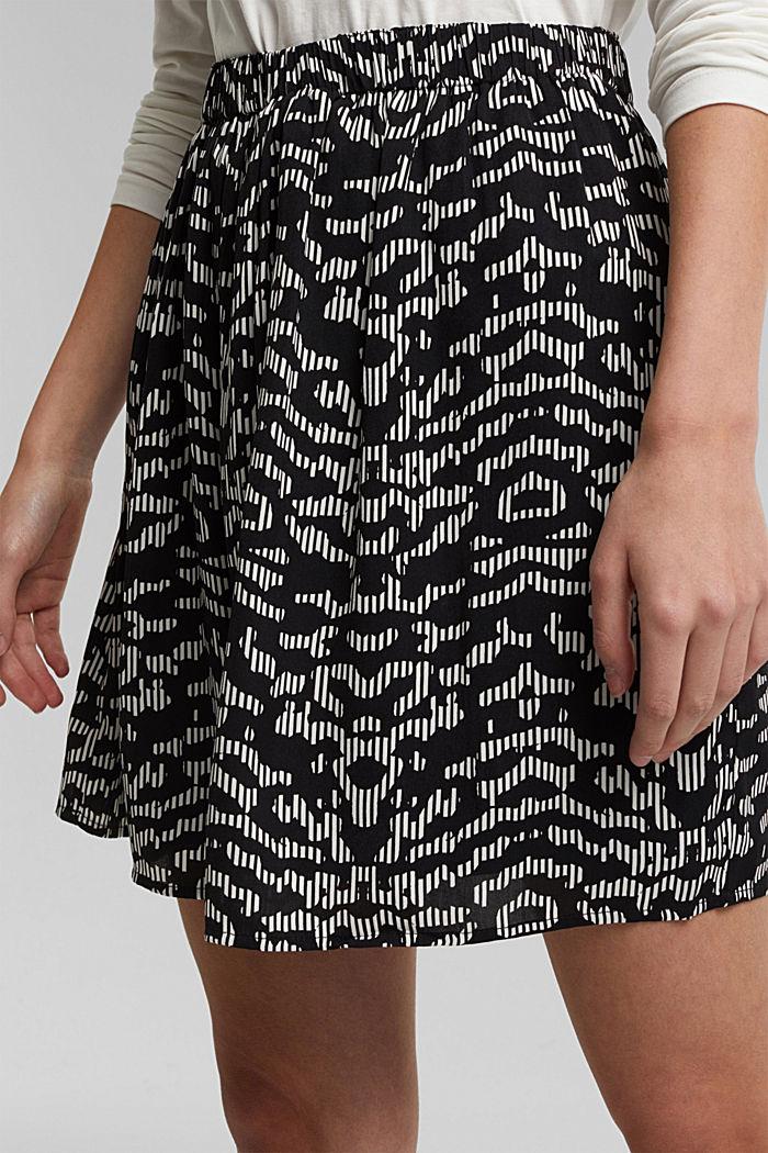 Mini skirt with geometric print, BLACK, detail image number 2