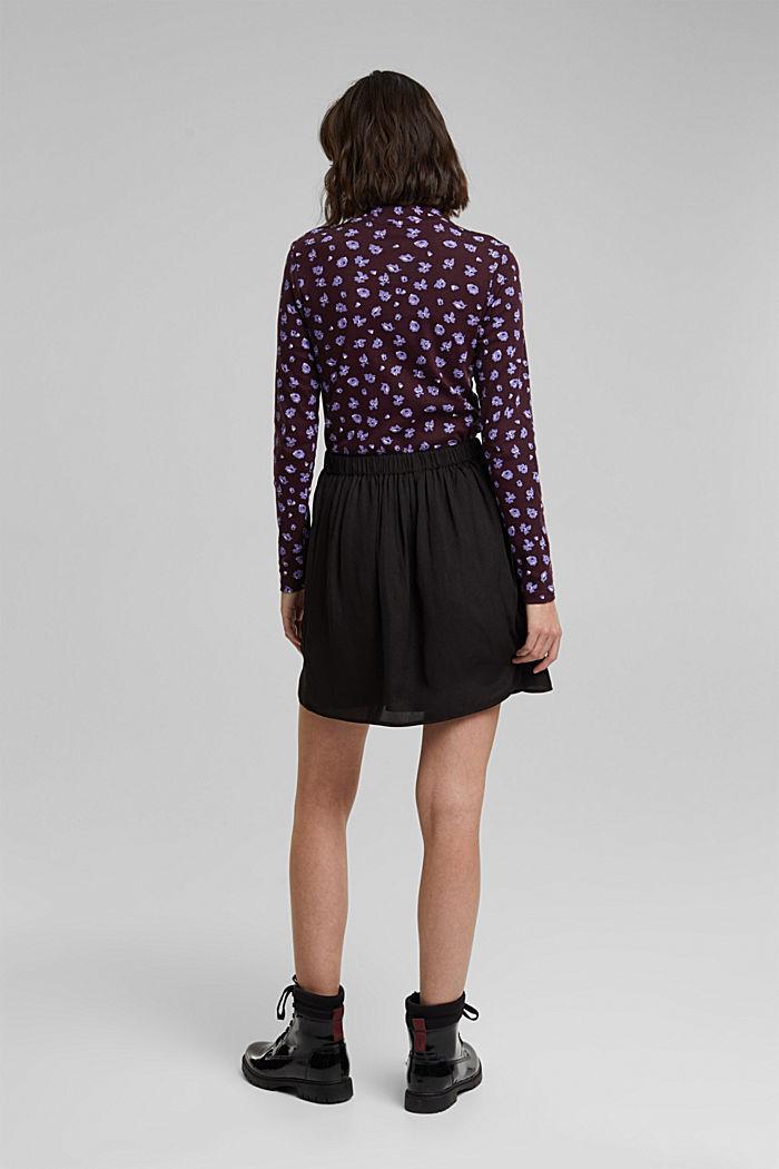 Mini-jupe à ceinture élastique, BLACK, detail image number 3