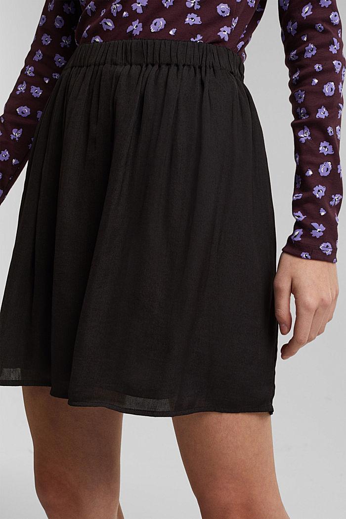 Mini-jupe à ceinture élastique, BLACK, detail image number 2