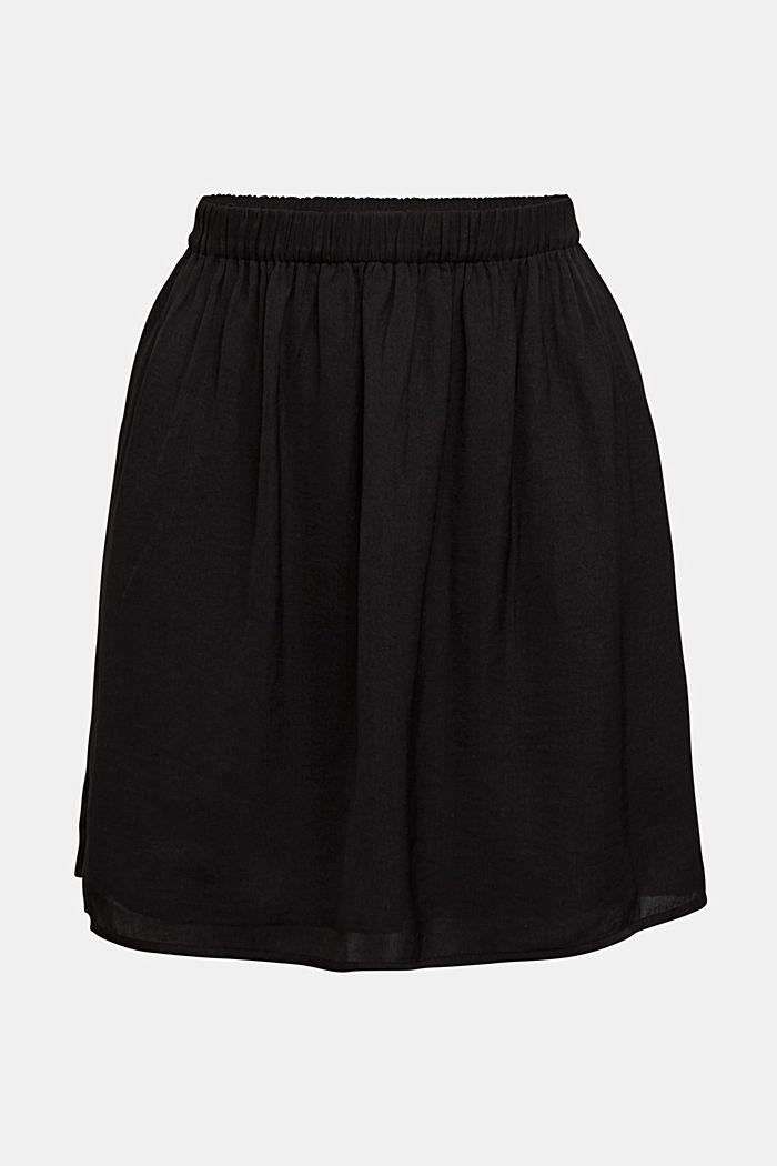 Mini-jupe à ceinture élastique, BLACK, detail image number 5