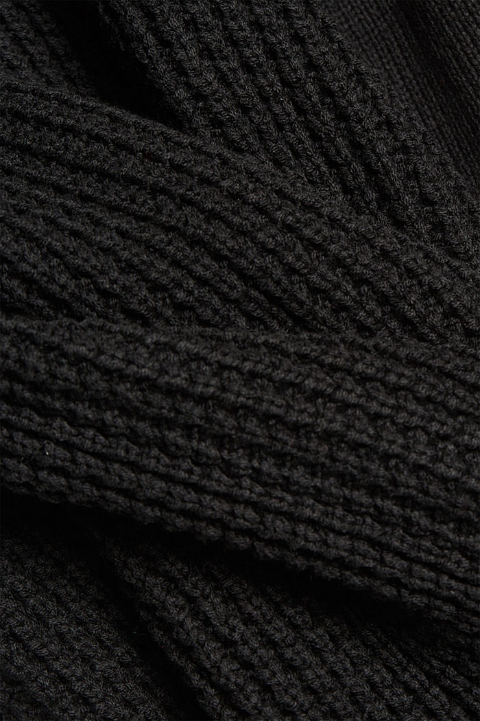 Strick-Kleid aus Baumwoll-Mix, BLACK, detail image number 4