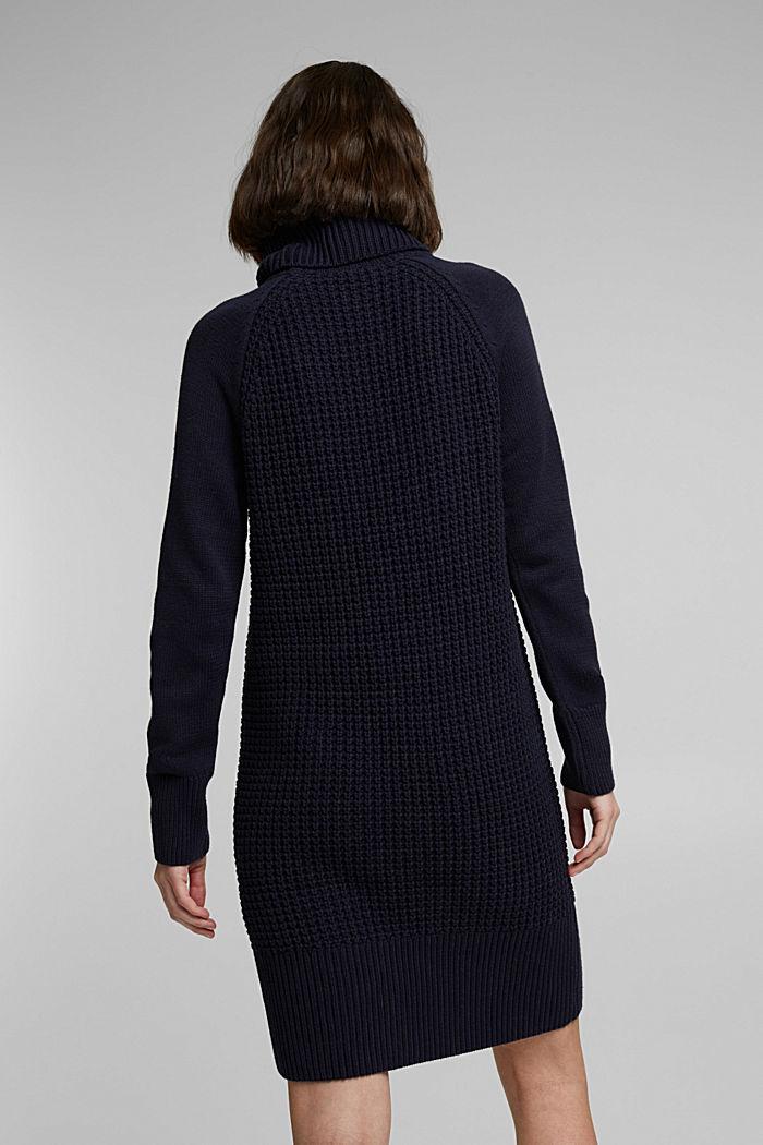 Knit dress made of blended cotton, NAVY, detail image number 2