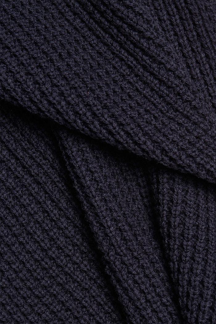 Knit dress made of blended cotton, NAVY, detail image number 4