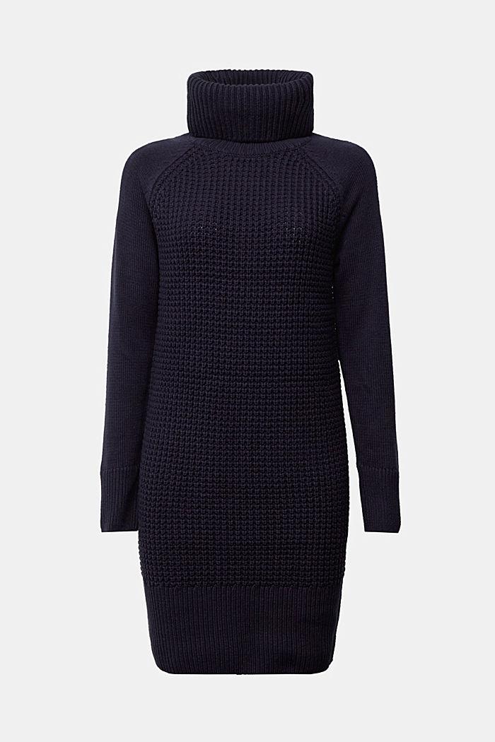 Knit dress made of blended cotton, NAVY, detail image number 6