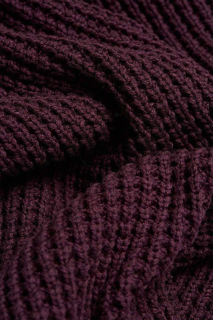 Knit dress made of blended cotton, AUBERGINE, detail image number 4
