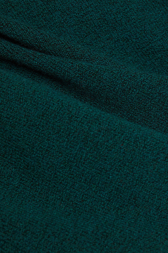 Knitted dress with cotton, DARK TEAL GREEN, detail image number 4