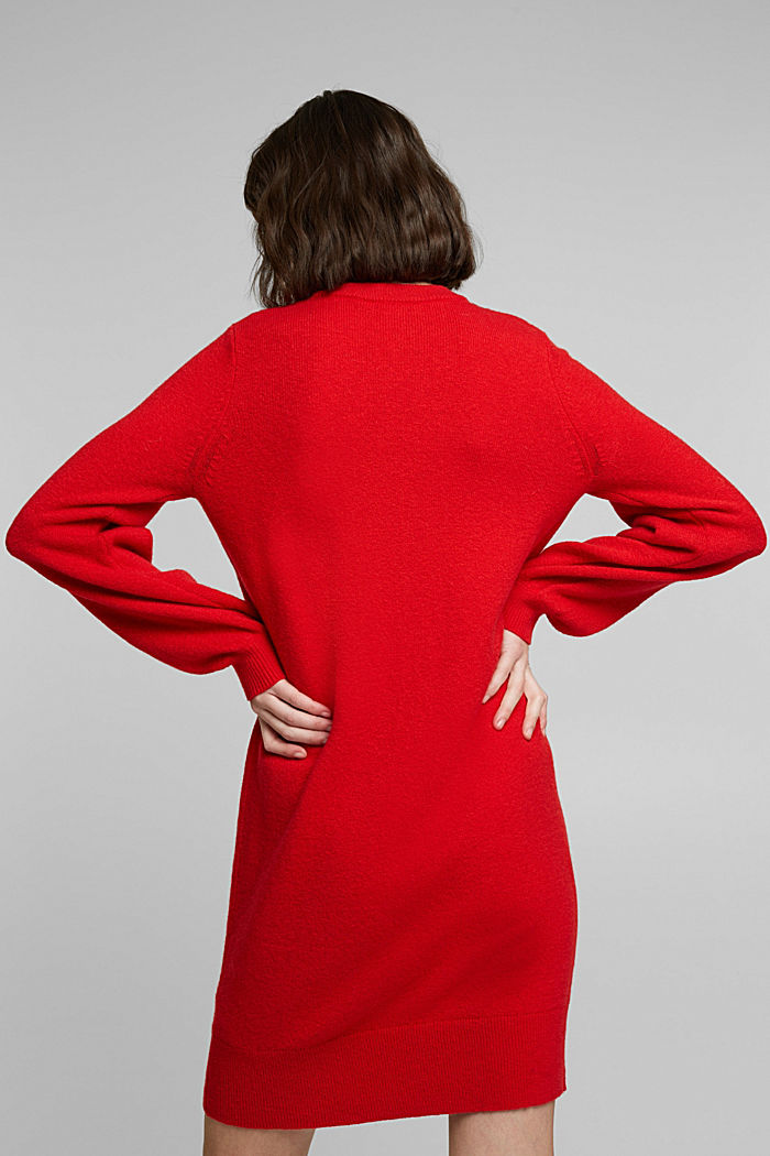 Knitted dress with cotton, RED, detail image number 2