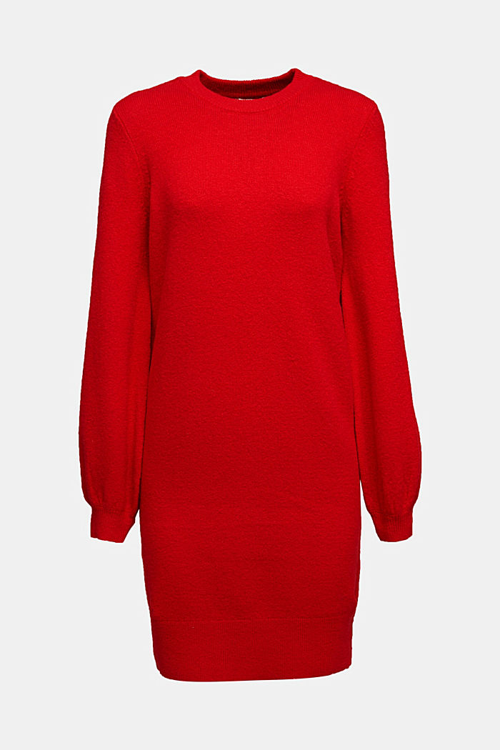 Knitted dress with cotton, RED, detail image number 5