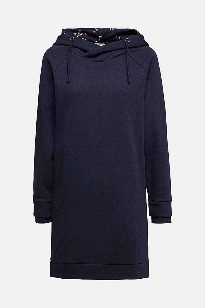 Recycled: sweatshirt dress with organic cotton, NAVY, detail image number 6