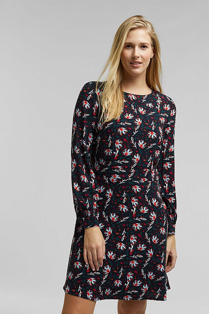 Kleid mit Blumen-Print, BLACK, detail image number 0