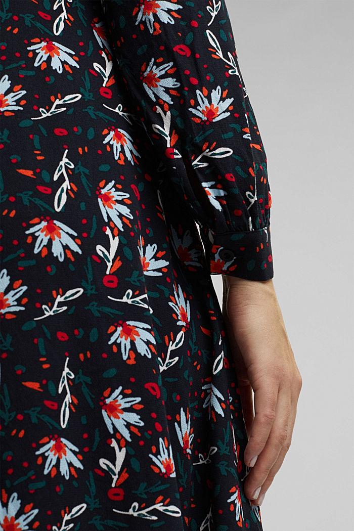 Kleid mit Blumen-Print, BLACK, detail image number 5