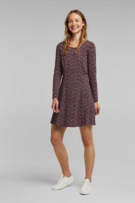 Jersey dress with organic cotton, AUBERGINE, detail