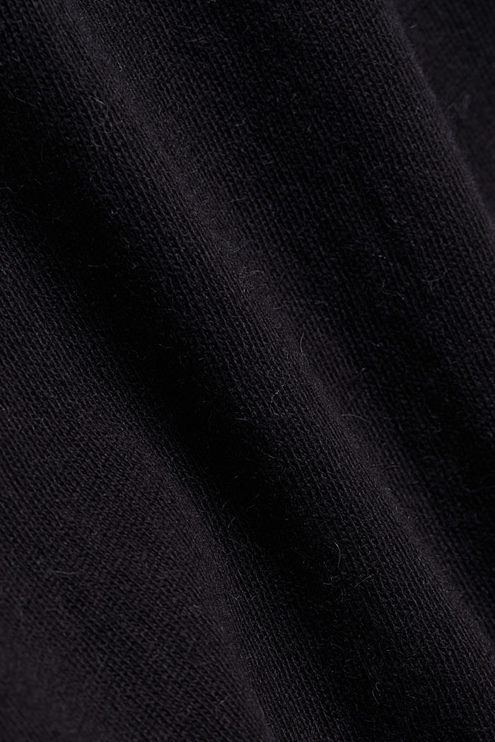 2-in-1: hoodie and midi dress made of knit fabric, BLACK, detail image number 4