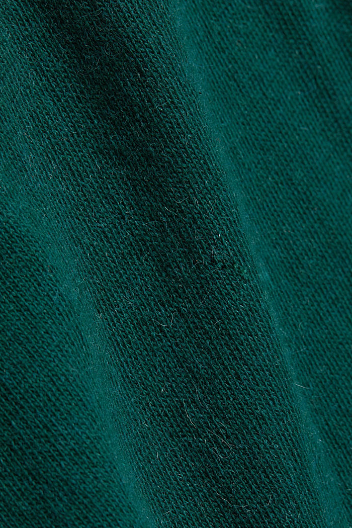 2-in-1: hoodie and midi dress made of knit fabric, DARK TEAL GREEN, detail image number 4