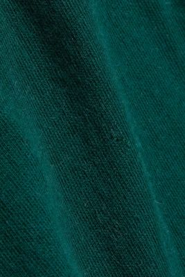 2-in-1: hoodie and midi dress made of knit fabric, DARK TEAL GREEN, detail