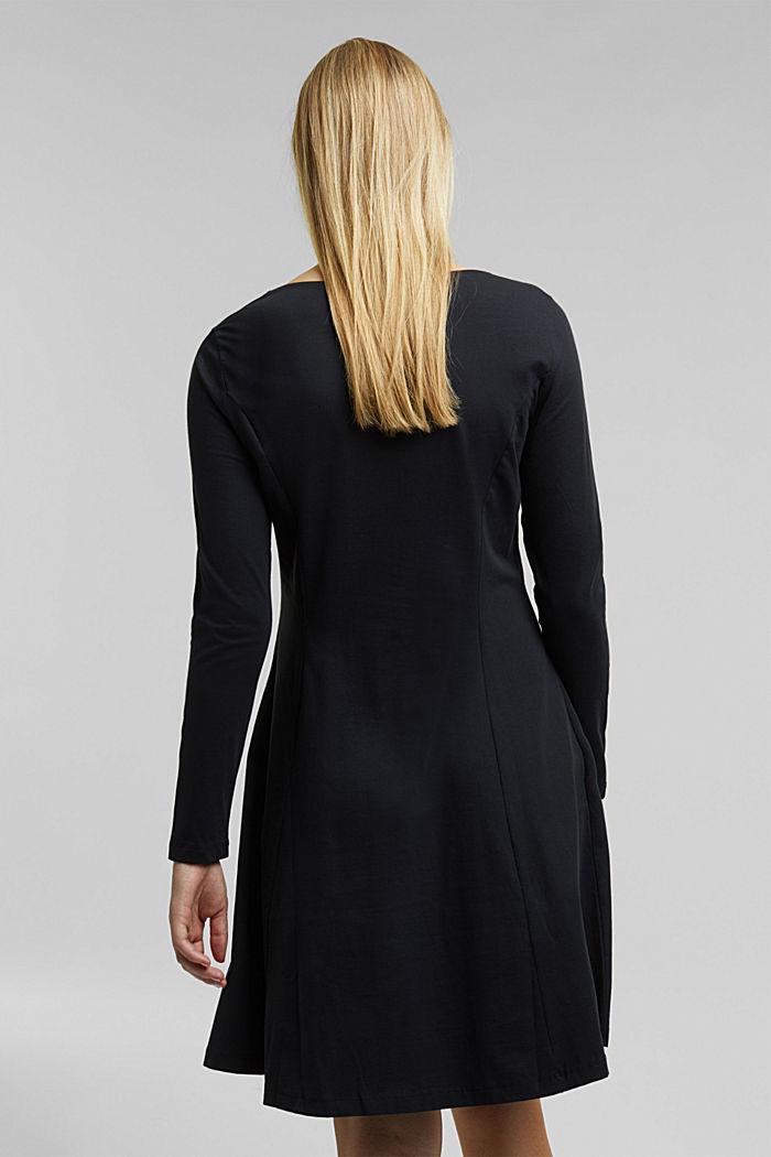 Jersey-Kleid mit Organic Cotton, BLACK, detail image number 1