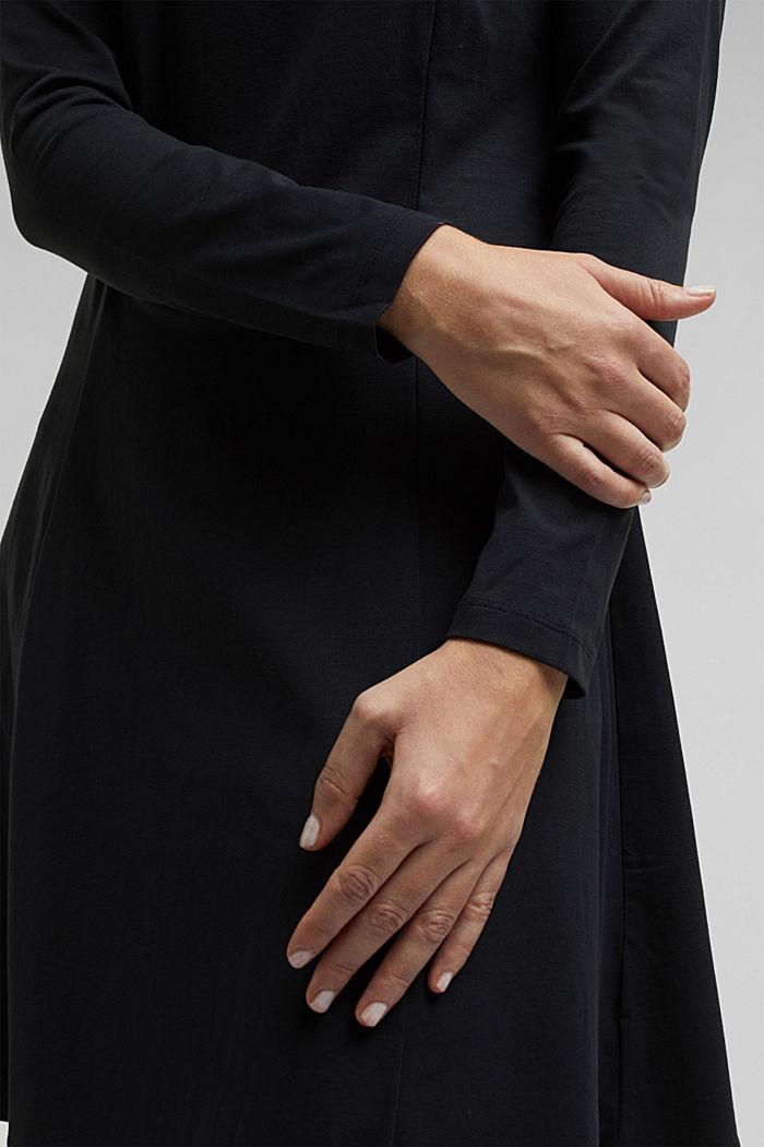 Jersey-Kleid mit Organic Cotton, BLACK, detail image number 2