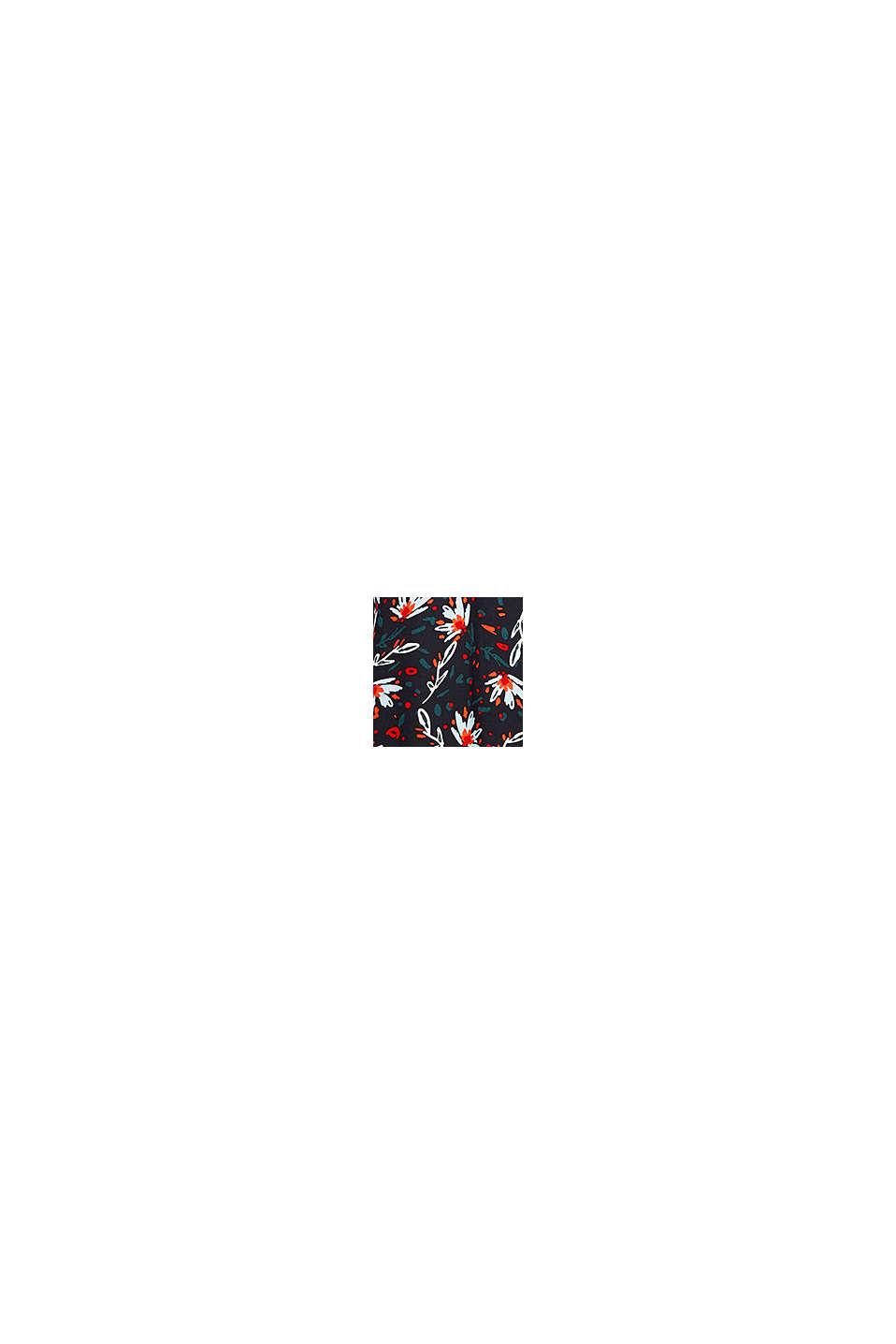 Schlupf-Bluse aus bedrucktem Crêpe, BLACK, swatch