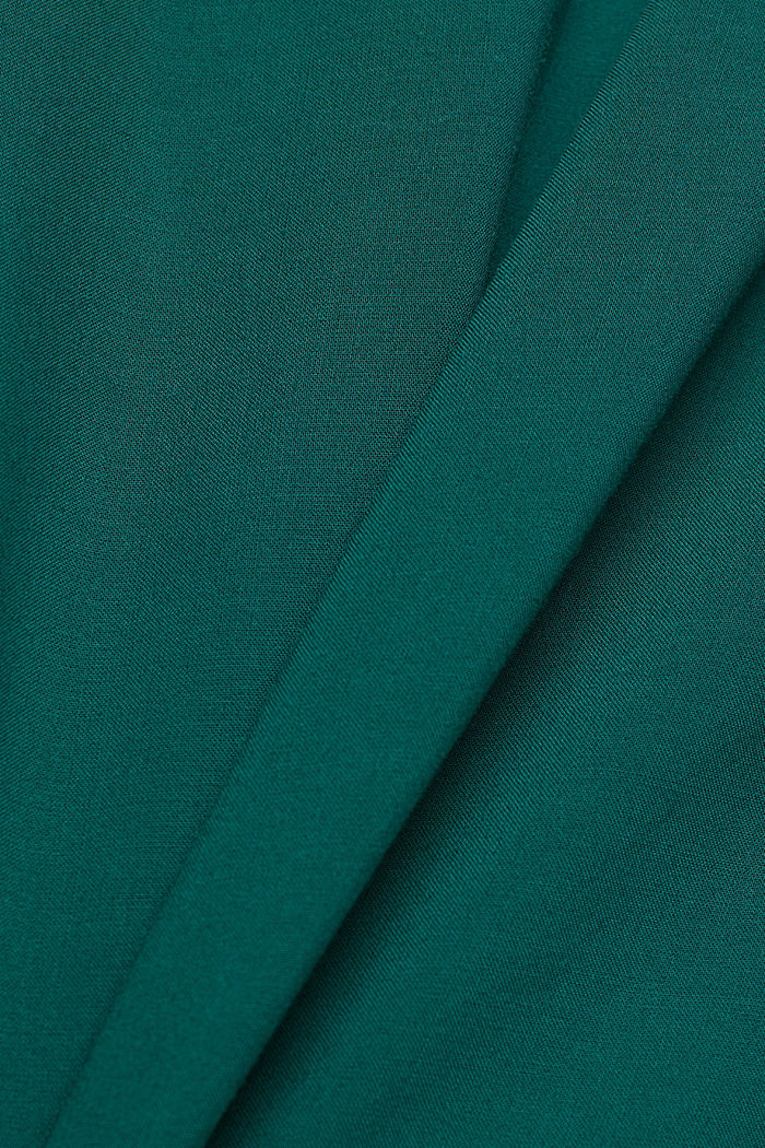 Blouse made of 100% LENZING™ ECOVERO™, DARK TEAL GREEN, detail image number 4