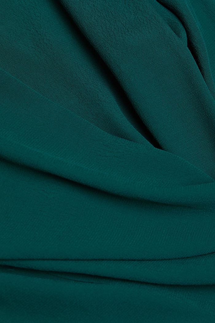 Blouse made from LENZING™ ECOVERO™, DARK TEAL GREEN, detail image number 4