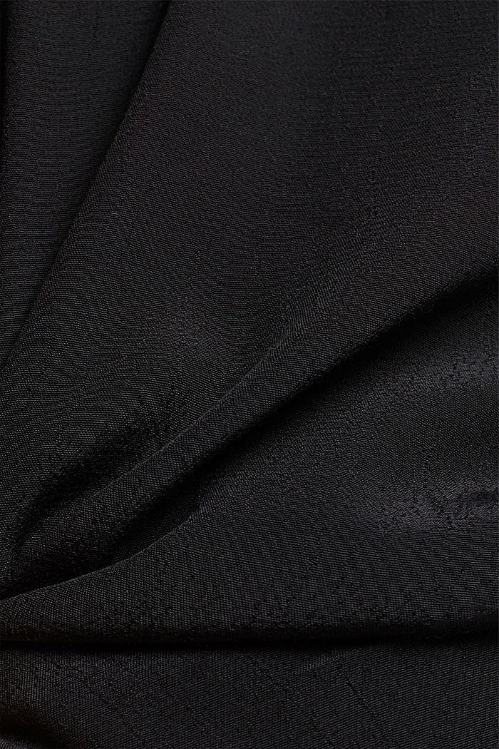 Crêpe V-neck blouse, BLACK, detail image number 4