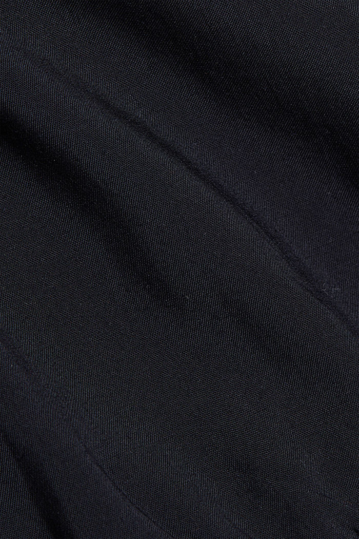Blouse made of 100% LENZING™ ECOVERO™, BLACK, detail image number 4