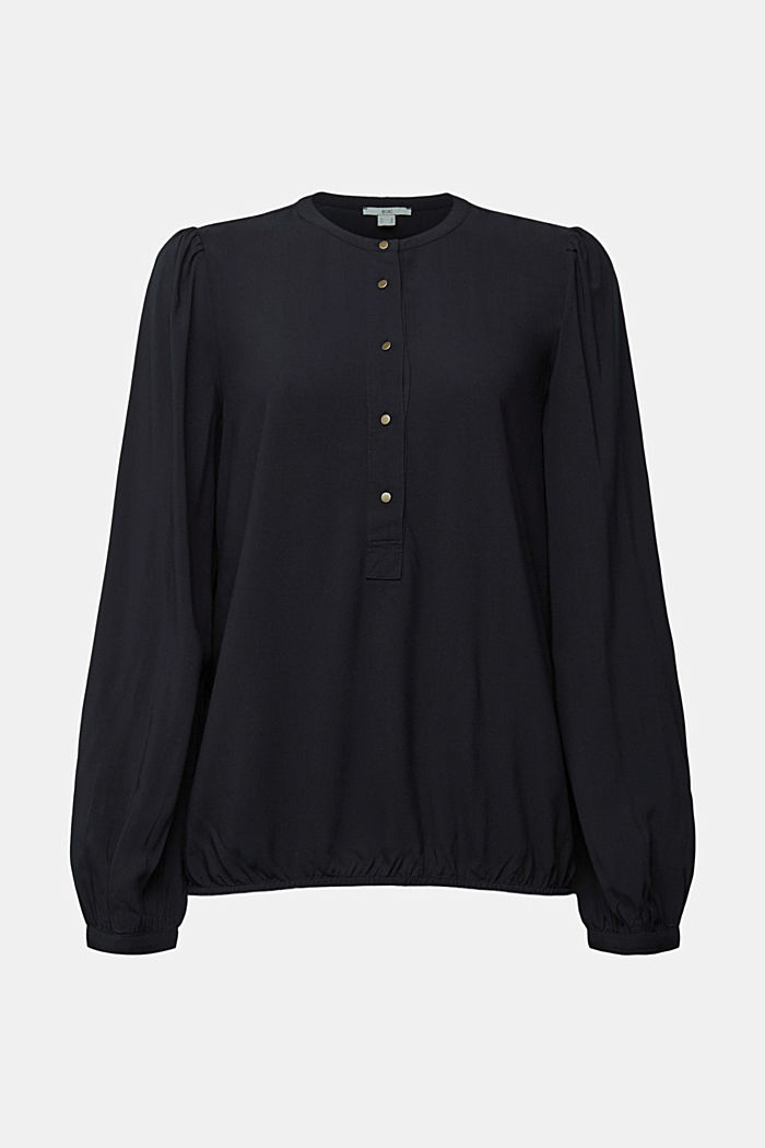 Blouse made of 100% LENZING™ ECOVERO™, BLACK, detail image number 7