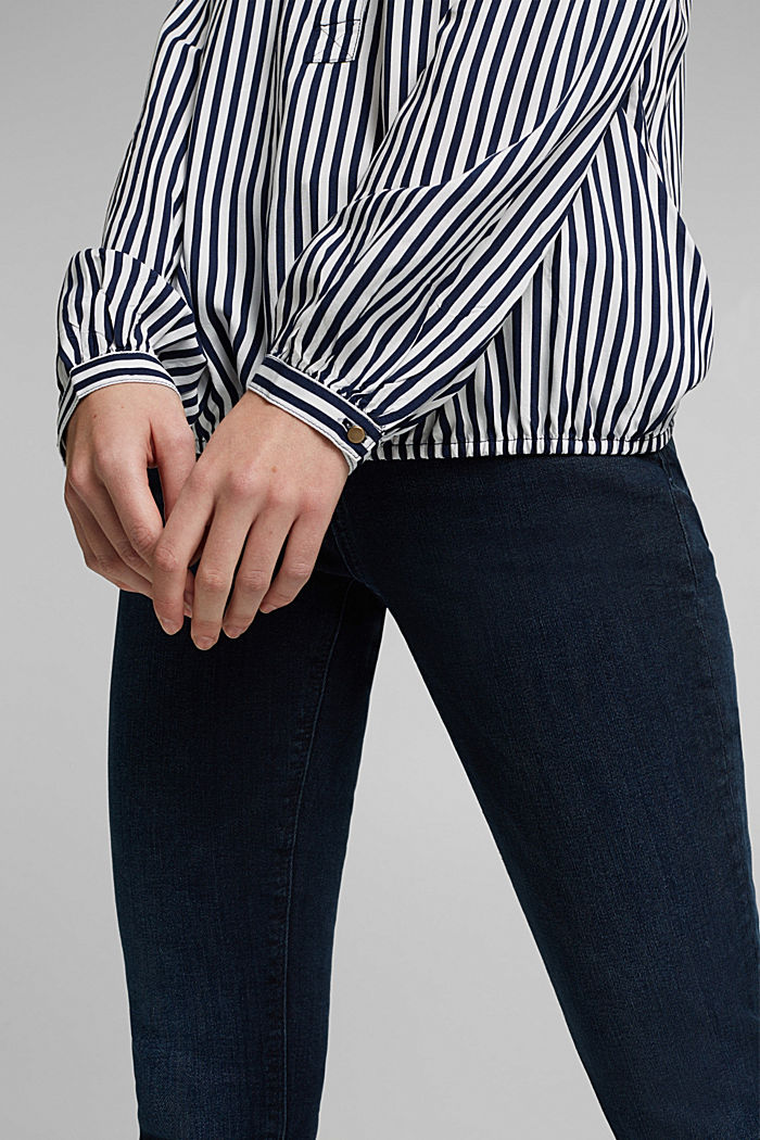 Blouse made from LENZING™ ECOVERO™, NAVY, detail image number 2