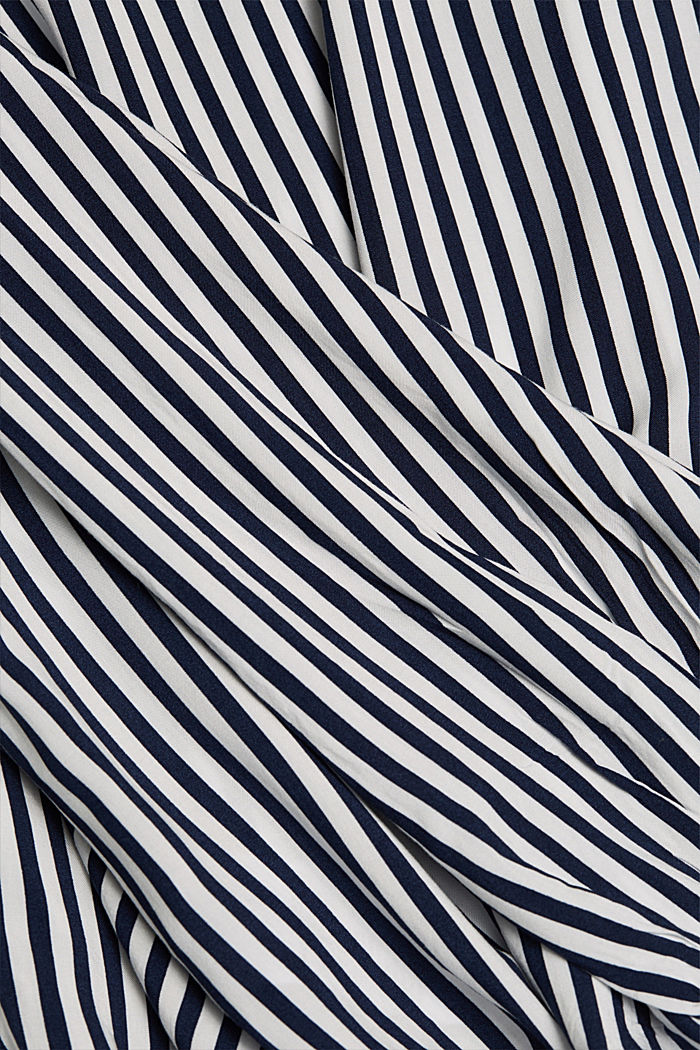 Blouse made from LENZING™ ECOVERO™, NAVY, detail image number 4
