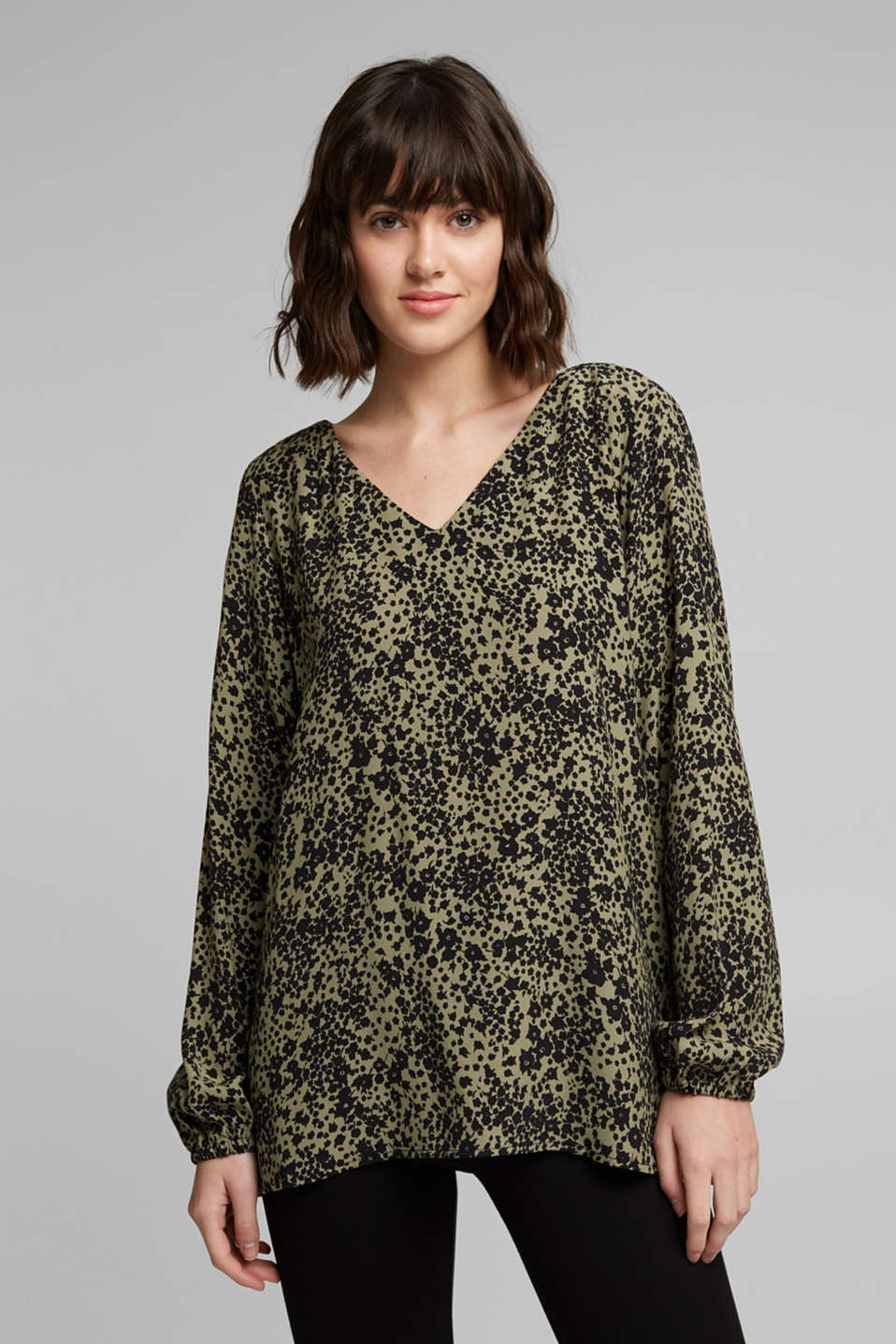 edc - Print V-neck blouse
