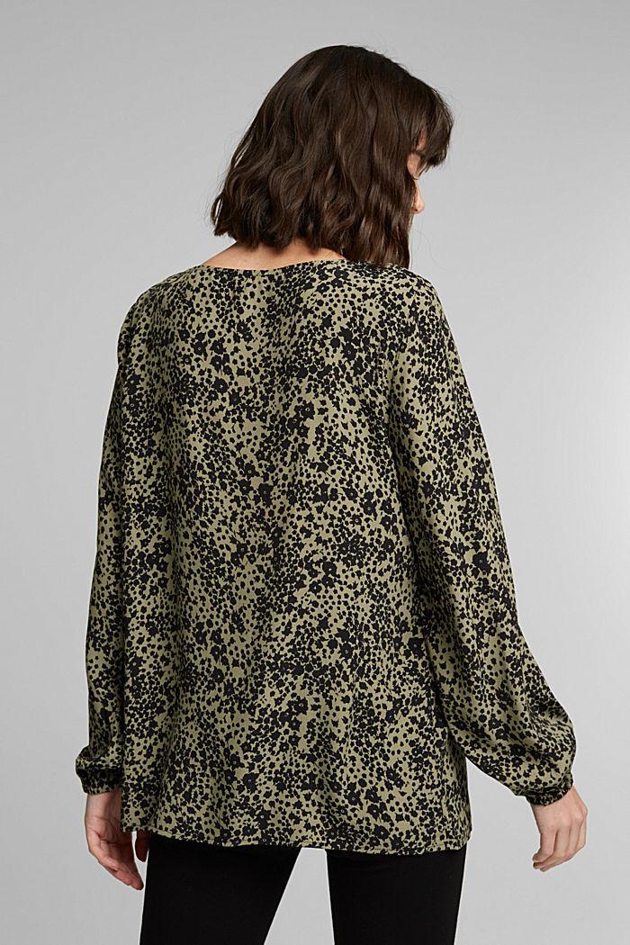 Print V-neck blouse, BLACK, detail image number 3