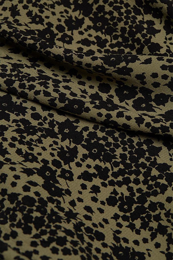 Print V-neck blouse, BLACK, detail image number 4