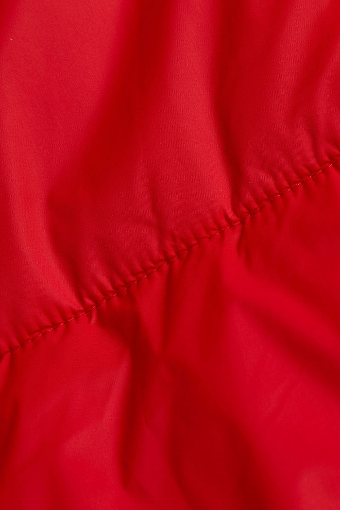 Recycled: padded, oversized quilted coat, RED, detail image number 4