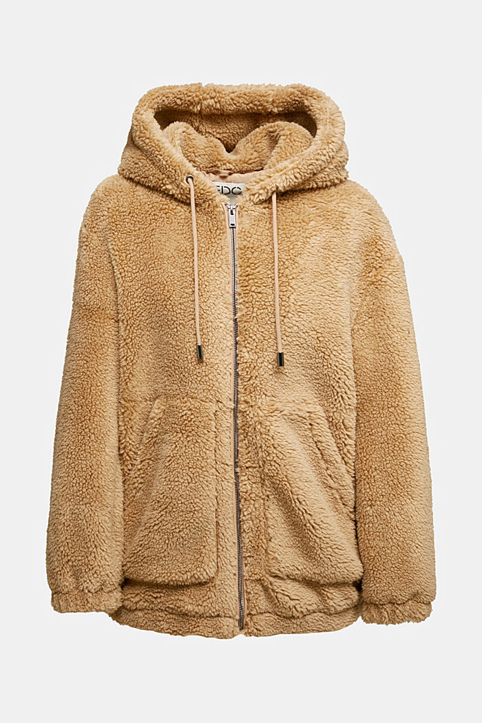 Teddy jacket with a hood