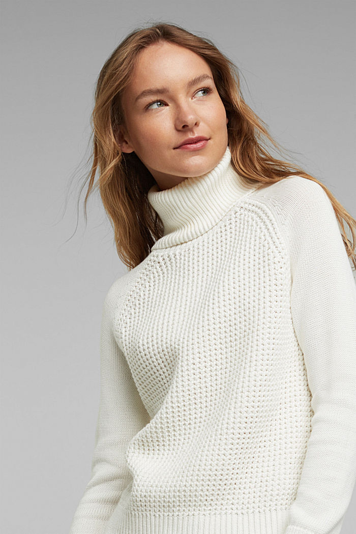 Jumper made of 100% organic cotton, OFF WHITE, detail image number 5