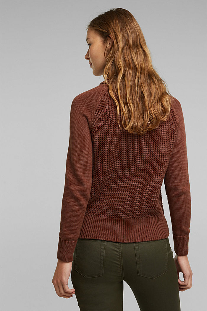 Jumper made of 100% organic cotton, BROWN, detail image number 3