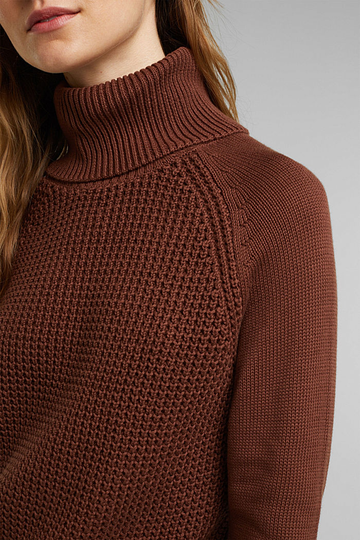 Jumper made of 100% organic cotton, BROWN, detail image number 2