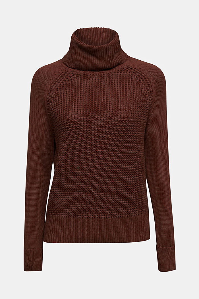 Jumper made of 100% organic cotton, BROWN, detail image number 7