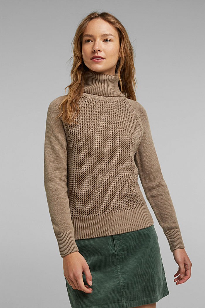 Jumper made of 100% organic cotton, TAUPE, detail image number 0