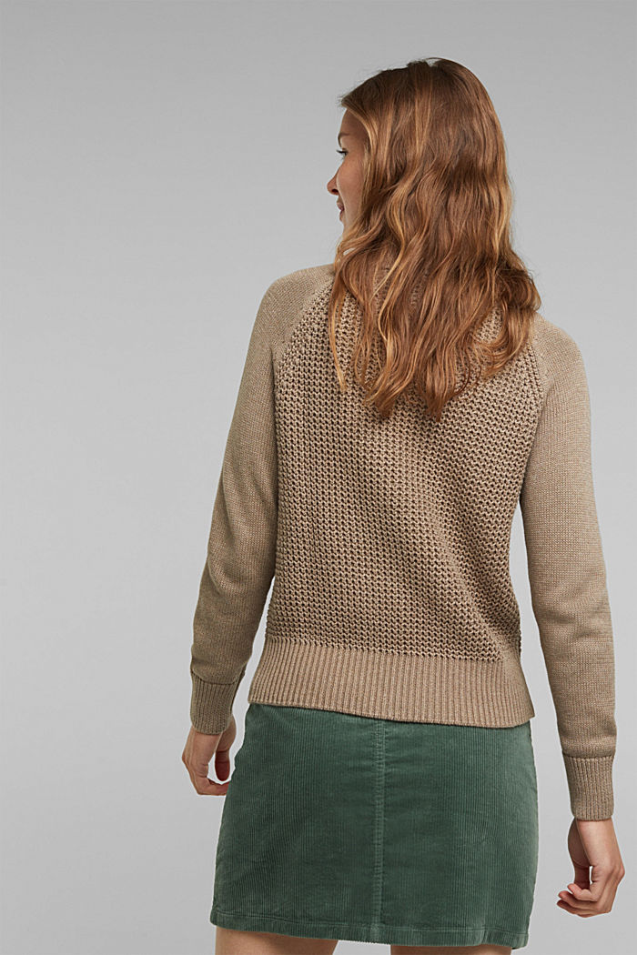 Jumper made of 100% organic cotton, TAUPE, detail image number 3