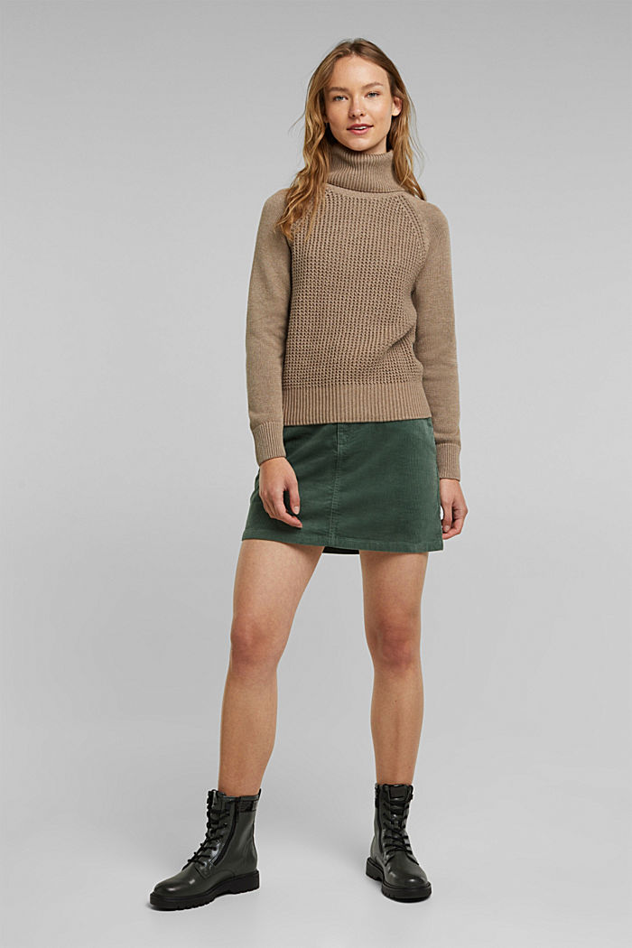 Jumper made of 100% organic cotton, TAUPE, detail image number 5