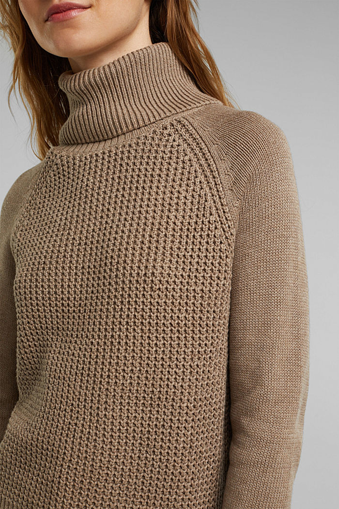 Jumper made of 100% organic cotton, TAUPE, detail image number 2